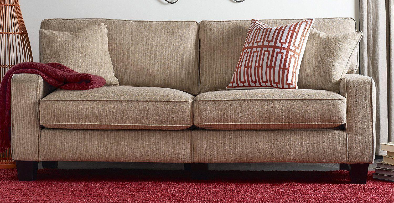 "$294 Amazon.com: Serta® RTA Palisades Collection 78"" Sofa in Flagstone Beige, CR43538PB: Kitchen & Dining"