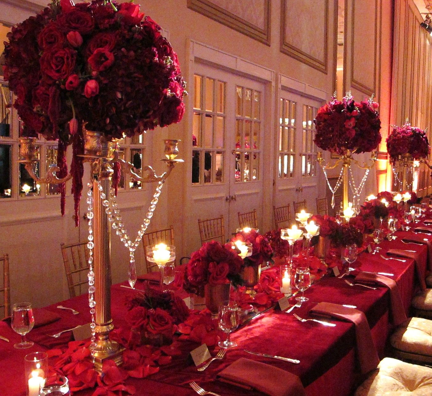 Wedding Table Ruby Wedding Table Decorations regal royal gold candelabra red roses shaadi pinterest marsala wedding table awesome decorations 2015