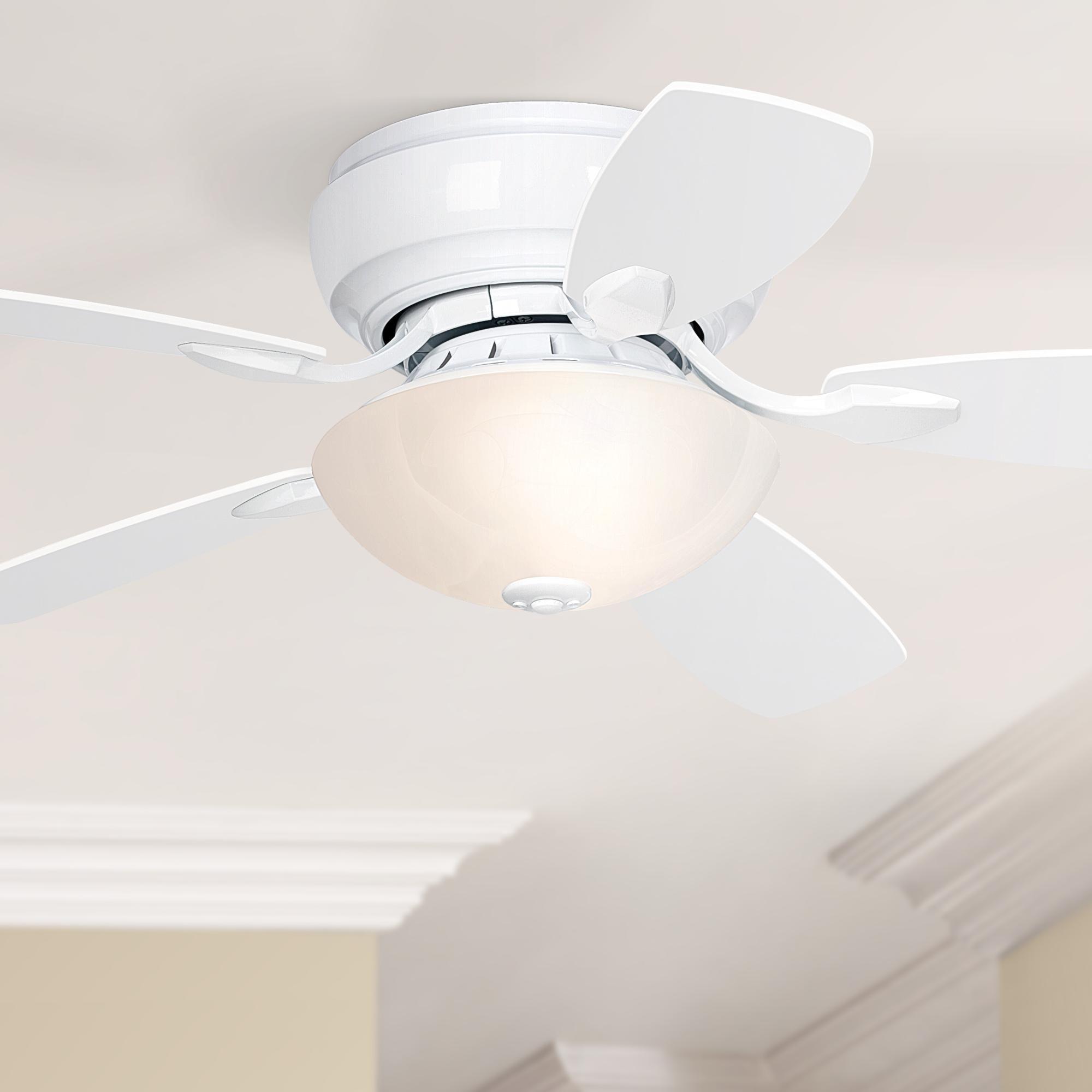 44 Inch Casa Habitat White Finish Hugger Led Ceiling Fan