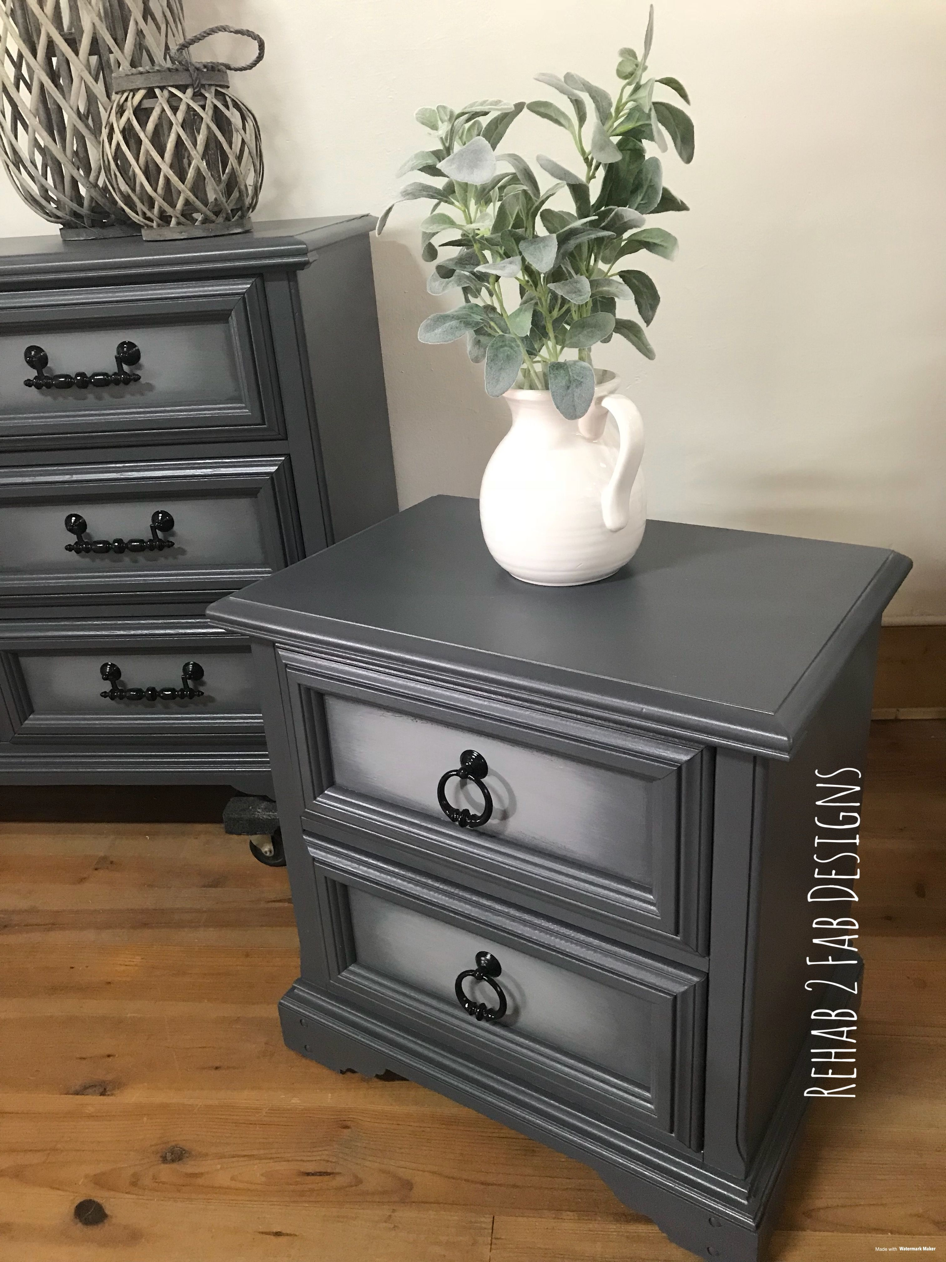 Vintage Basset Furniture Updated With Our Shades Of Grey Finish