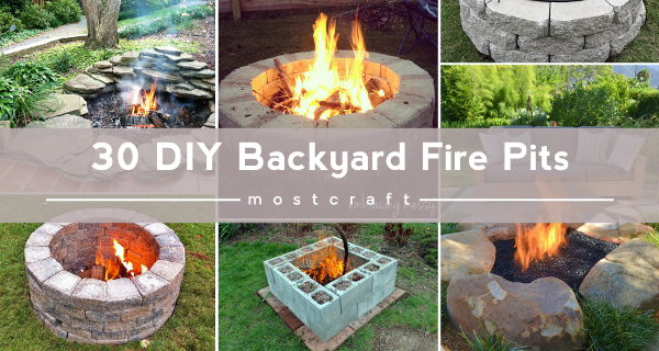 A DIY Fire Pit Is The Perfect Way To Enjoy The Fall And Winter Weather.  Here Are 30 Backyard Fire Pit Ideas You Can Use To Make Your Own Fire Pit  This ...