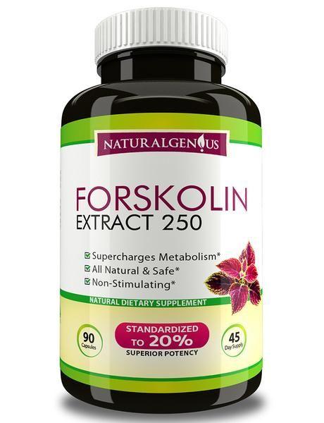 forskolin extract - fast & natural fat burner, true 45-day supply