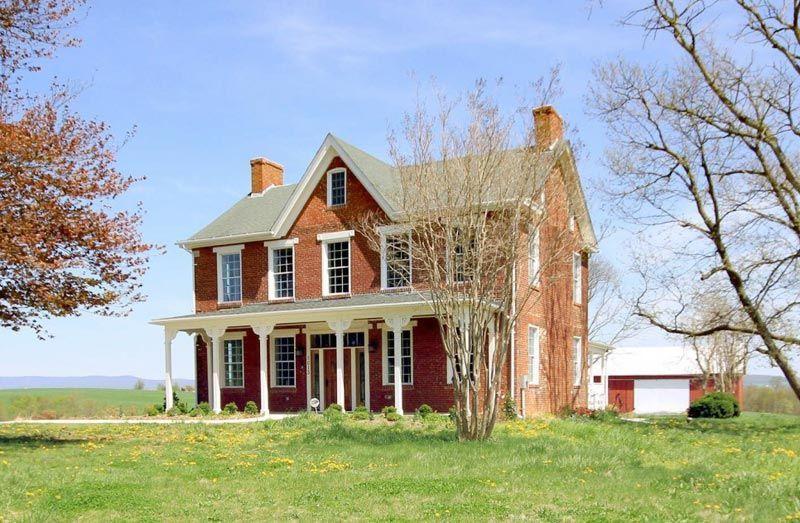 brick victorian farmhouse Maryland Historic Brick