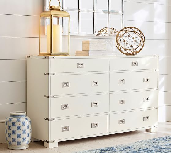 Campaign Furniture Blended Easy Portability With Fine Craftsmanship This Extra Wide Dresser Captures Its Enduring Style Recessed Drawer Pulls And