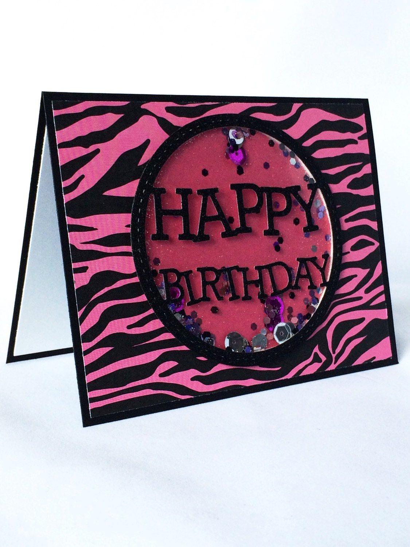 Happy Birthday Card Tween Birthday Card Girly Birthday Card Zebra