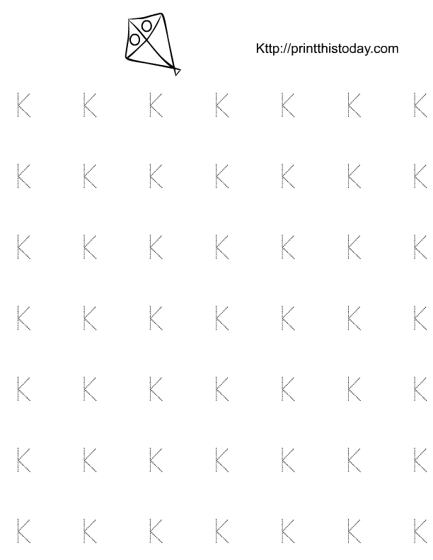 Letter K Worksheets - School Sparks