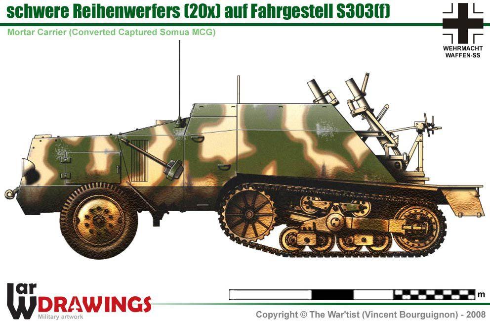 schwere Reihenwerfers auf Fahrgestell S 303(f) | German