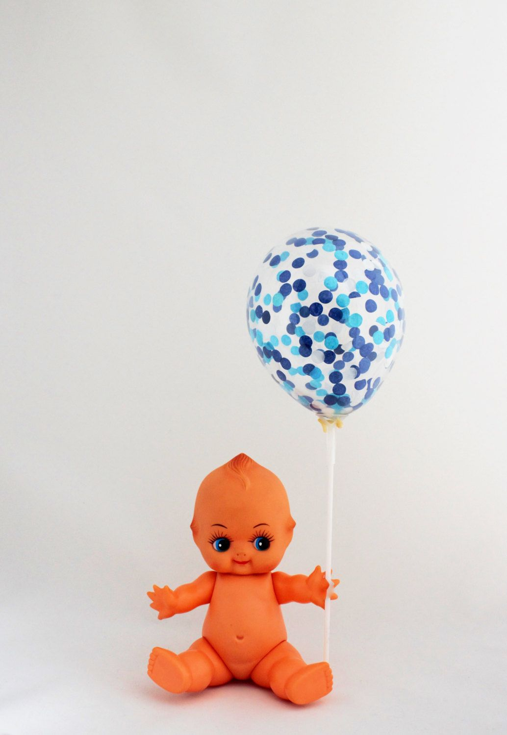 Blue Confetti Balloons (pack of 3) The Perfect Little Boy Baby Shower or Blue Theme Party Decoration! by ThisLittleParty on Etsy