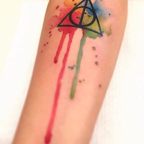 i doni della morte simbolo tattoo , Cerca con Google Harry Potter Tattoos,  Tattos,