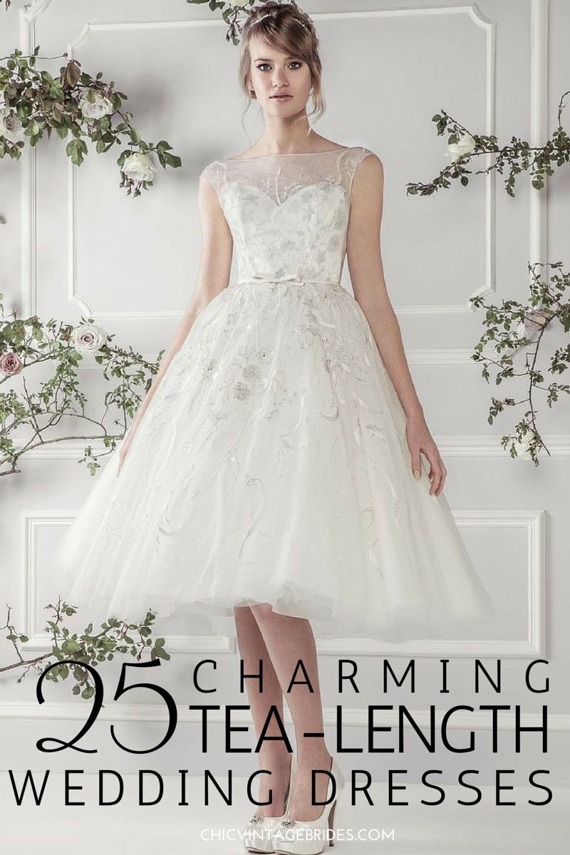 utterly gorgeous tea length wedding dresses tea length short