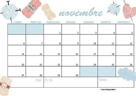 Calendario Per Appunti.Scarica Calendario E Sfondi Di Novembre Printable Free