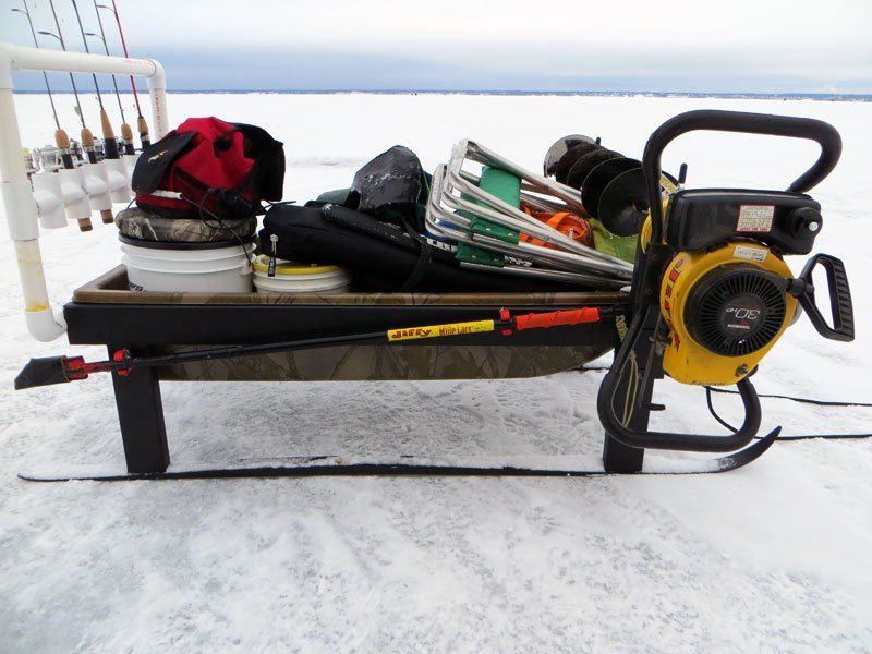 Ice fishing sled mods ice fishing pinterest ice for Ice fishing snowmobile