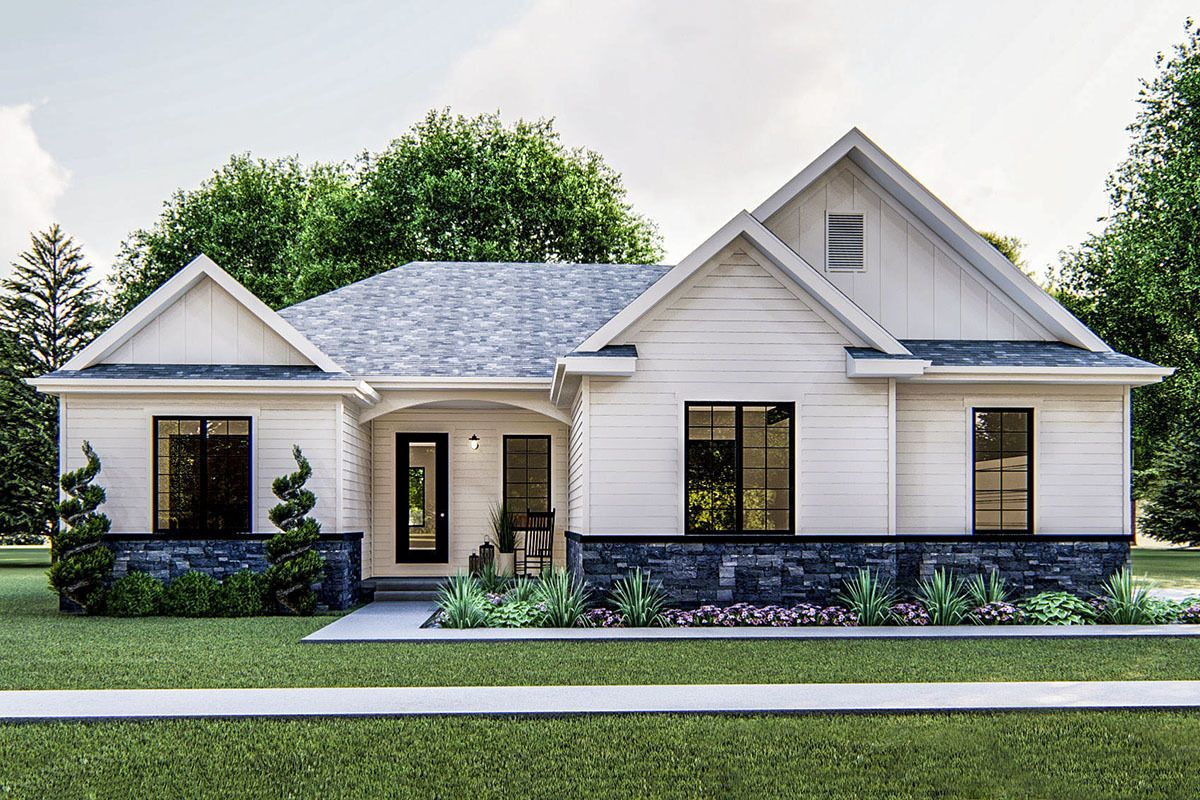New American Ranch with Open Concept Floor Plan