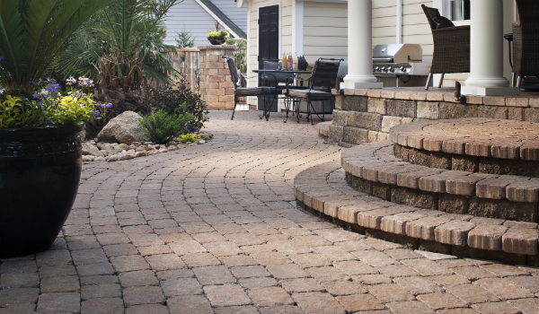Pavers Amp Artificial Turf Design Ideas For Outdoor Living Spaces Install It Direct Patio Paver Patio Outdoor Patio Pavers