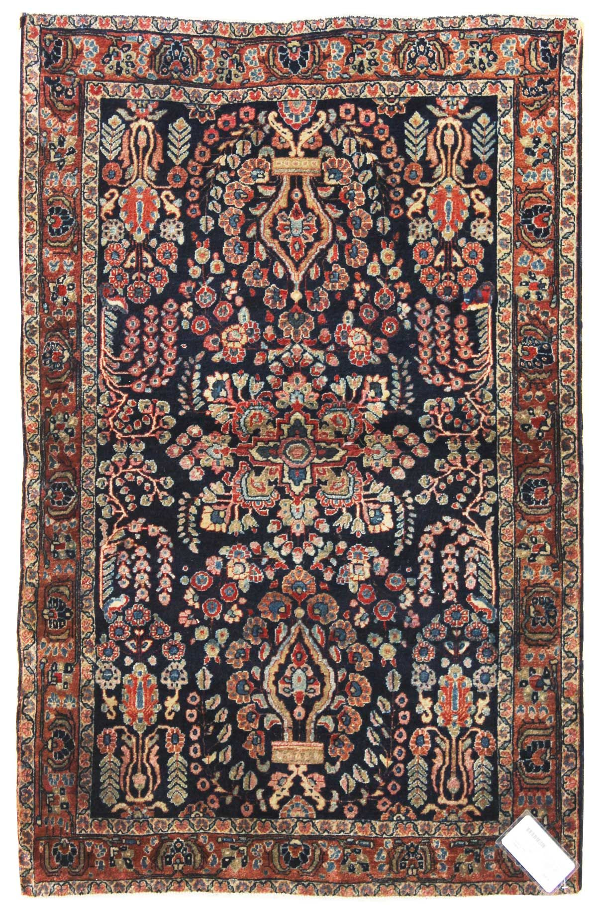 Antique Sarouk Rugs Gallery Antique Sarouk Rug Hand Knotted In Persia Size 3 Feet 4 Inch Es X 4 Feet 10 Inch Es Rugs On Carpet Rugs Oriental Carpets
