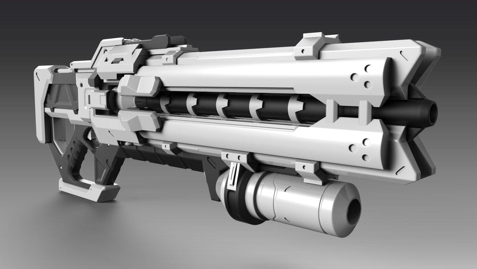 ArtStation - Overwatch - Soldier 76 Weapon (WIP), Dylan Mellott | Guns | Weapons, Overwatch ...