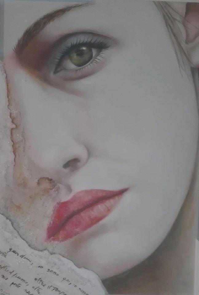 """OnLineArt 2017 -  Opera Pittorica: """"Guardami"""""""" -  Artista: Vittoria Litrico -  50x35, olio su tela"""
