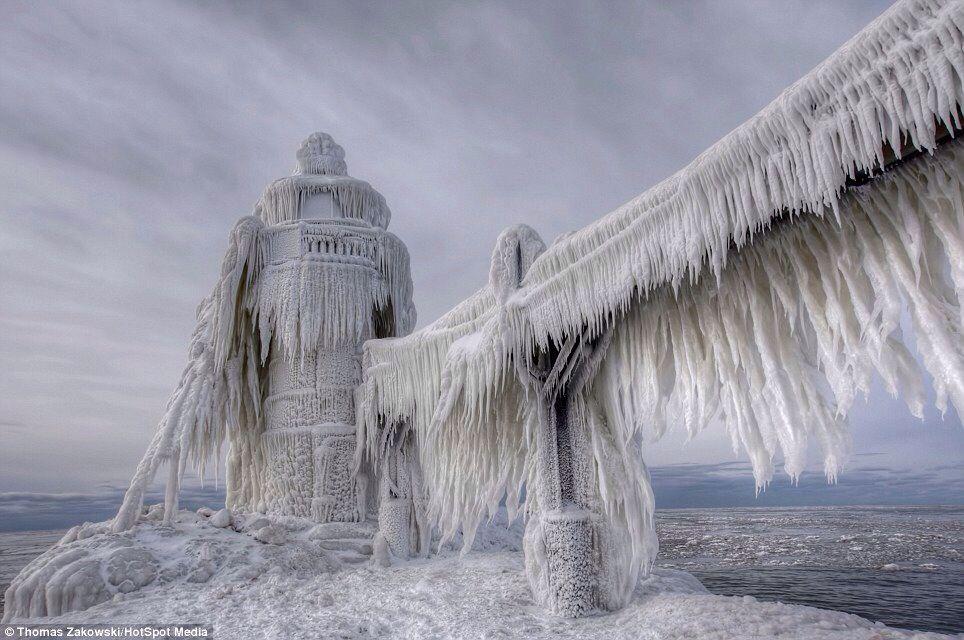 Iced lighthouses