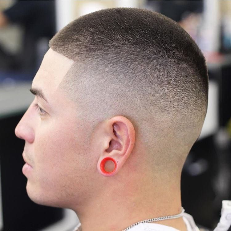 Get This Hairstyle Faded Buzz Cut On Dark Hair Mens