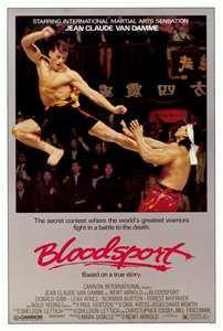 Original Bloodsport movie poster featuring Jean Claude Van Damme