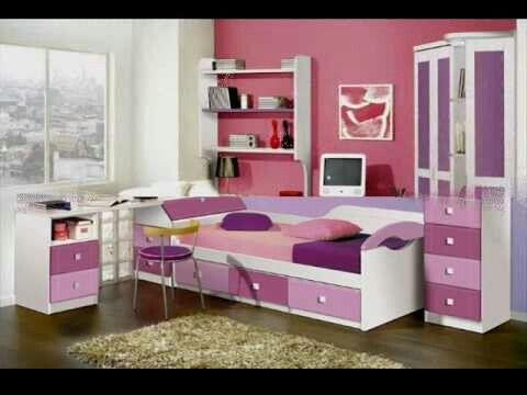 Cuarto de ni a color rosa fuerte y claro cuarto for Cuarto de nina rosa palido