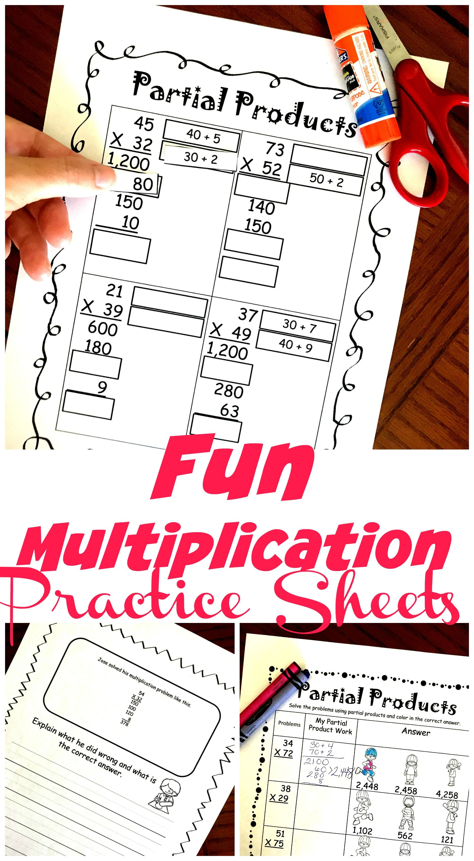 4 Activities To Practice Multiplication Using The Partial