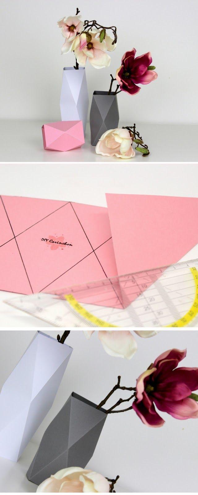 Photo of DIY Origami Vasen in weniger als 5 Minuten selber machen {mit gratis Schnittmuster} / Geniale Dekoration aus Papier – Point Blog
