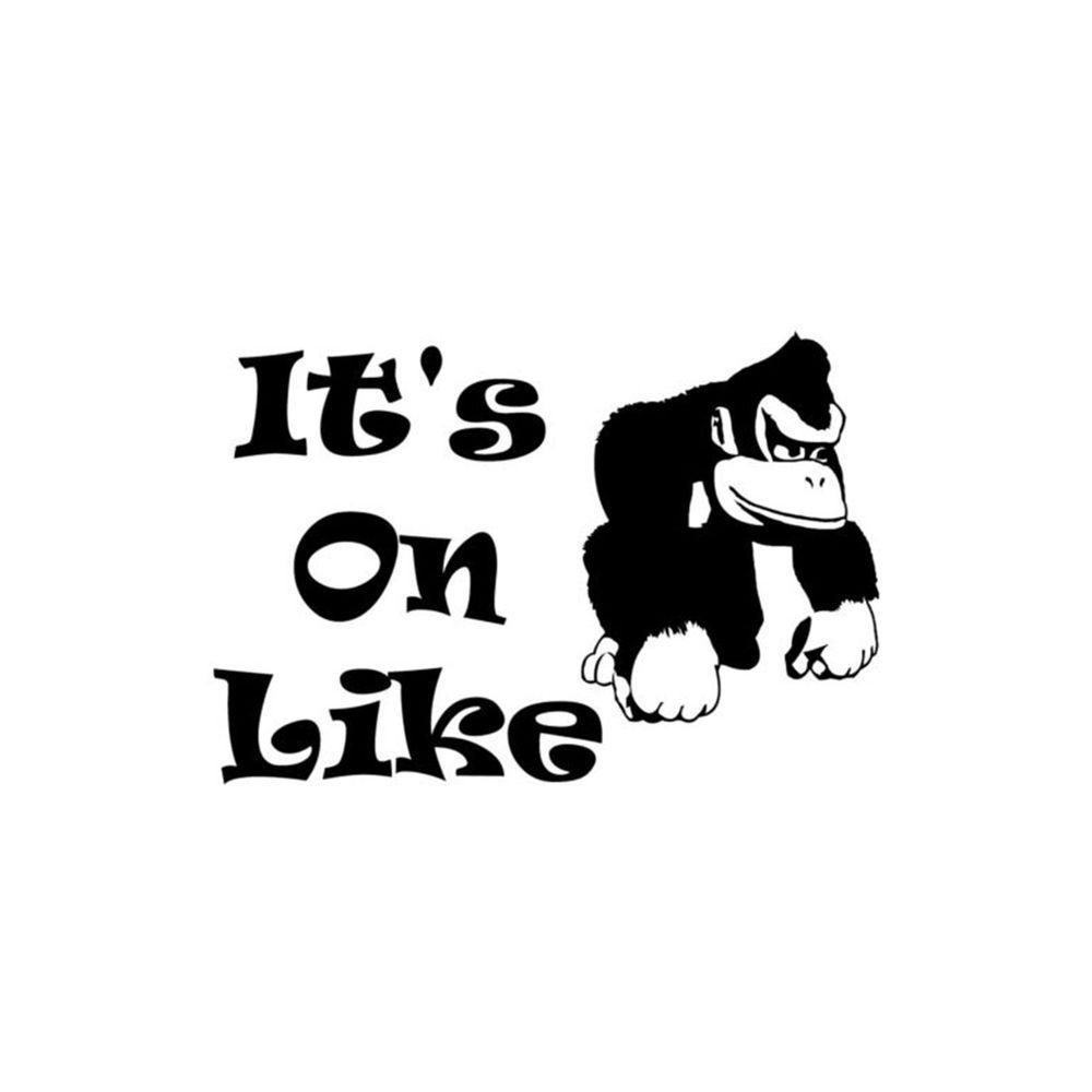 On Like Donkey Kong Vinyl Decal Nintendo Mario Bros Zelda Classic - Vinyl decals houston tx