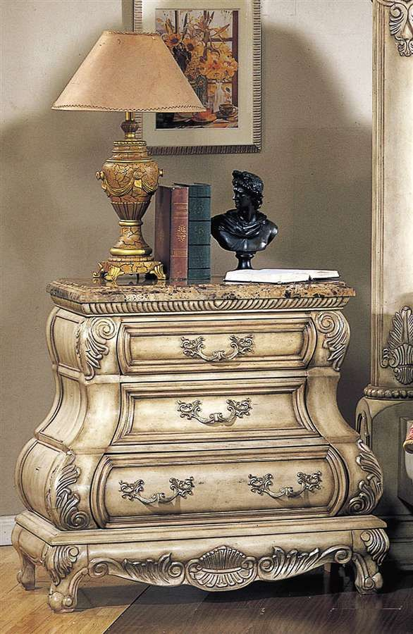 Best Calidonian Nightstand W Marble Top Elegant Furniture 400 x 300