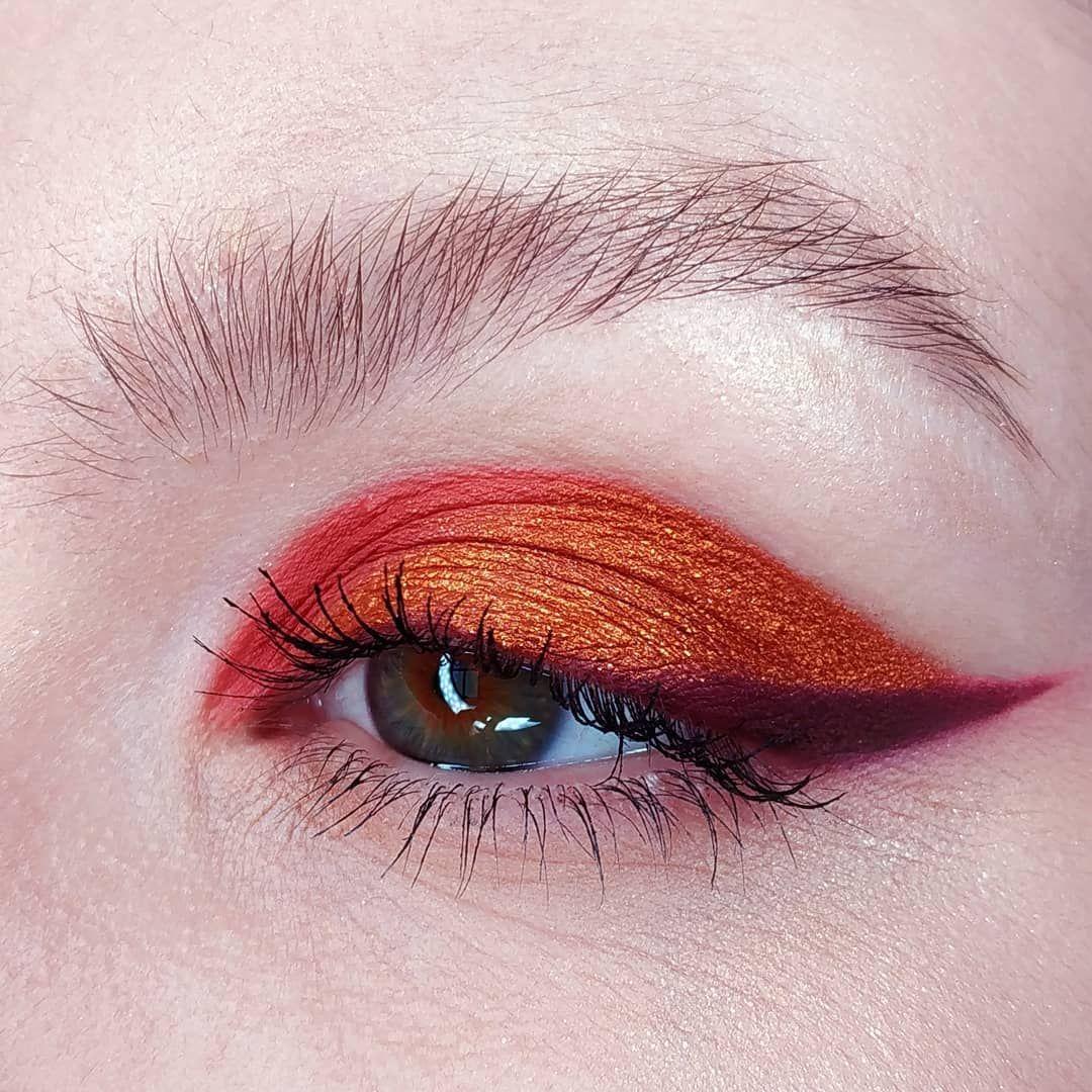 oranges Auge Make up   – EYE MAKEUP