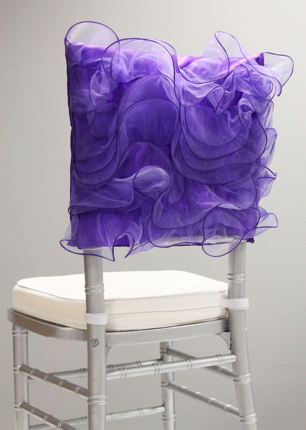 Swirl Chiavari Chair Cap Purple Chair Covers Wedding Banquet Chair Covers Purple Chair