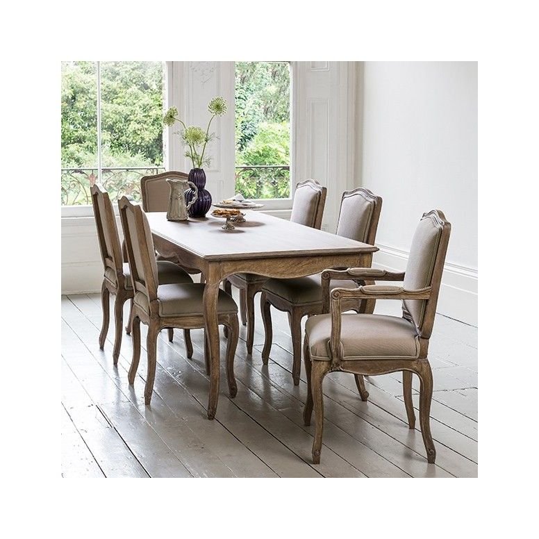 Avignon Wooden Dining Table 6 Seater