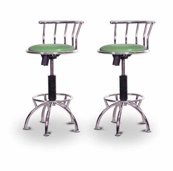 "2 24""29"" glitter emerald green seat chrome adjustable"