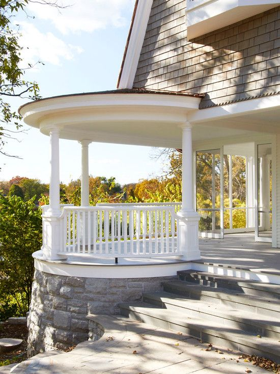 Great Ideas On How To Design A Front Porch With White