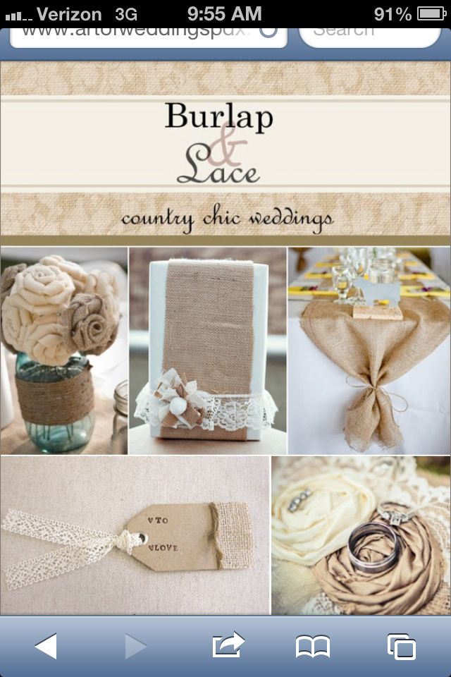 Like The Burlap Table Runner On Rectangular Tables...maybe Even With Our  Monogram