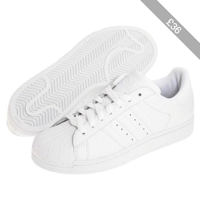 adidas superstar 2 w le donne originali classiche scarpe, bianca tallone