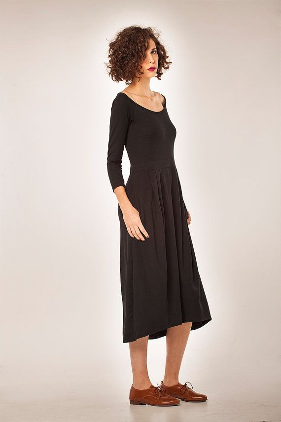 SALE 30 OFF Soft midi dress with beautiful neckline by YaelAdmoni ... 8f4206e00
