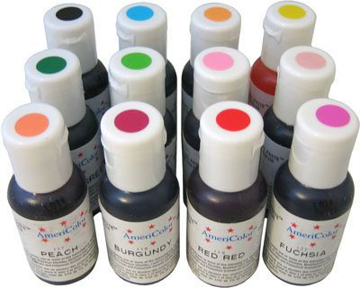 KIT 1: Americolor food color, contains 12 bottles of vibrant food ...
