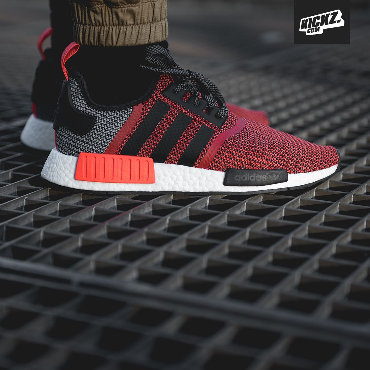 The adidas NMD R1 lush red/core black