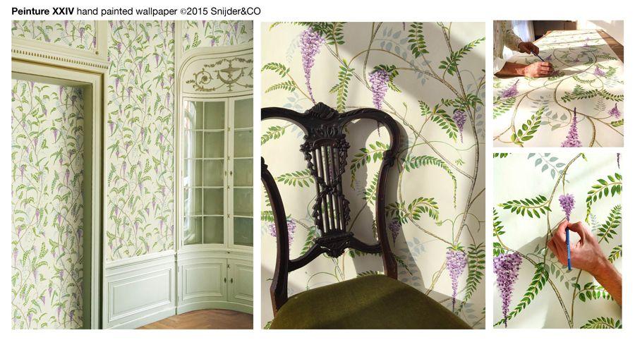 Snijder Co Handpainted Xxiv Handpainted Wallpaper Pinterest
