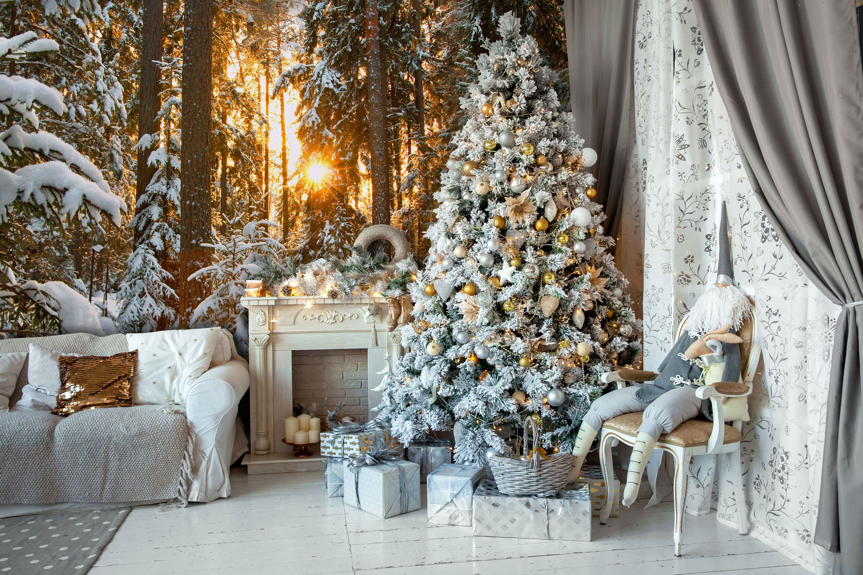 Winter Wonderland Christmas backdrops, Christmas living