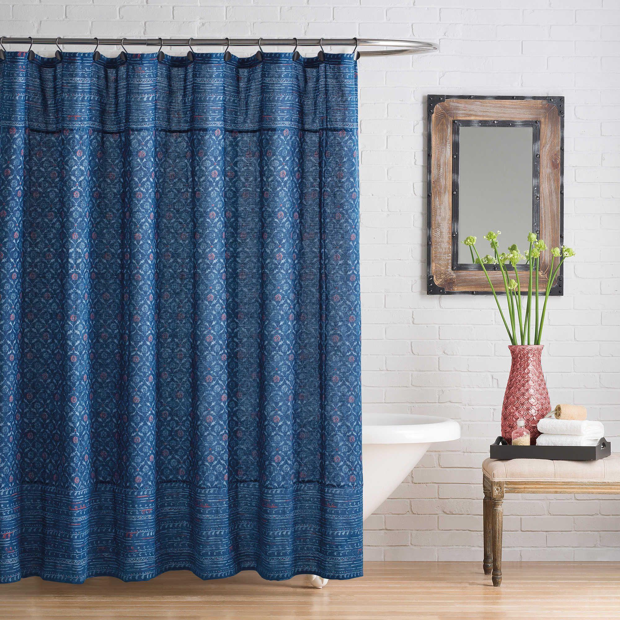 Happy Indigo Shower Curtain Shower Neutral Wall Colors Home Decor