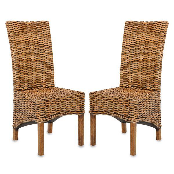 Safavieh Isla Side Chairs - Brown (Set of 2) - Bed Bath & Beyond