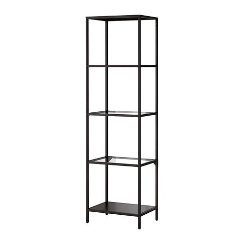 vittsj shelf unit black brown glass for our house. Black Bedroom Furniture Sets. Home Design Ideas