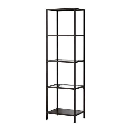 Vittsjo Shelf Unit Black Brown Glass 20 1 8x68 7 8 Ikea