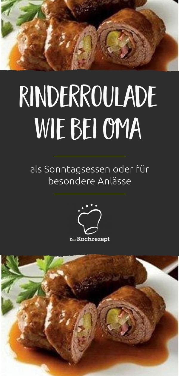 Rinderroulade wie bei Oma #beefdishes