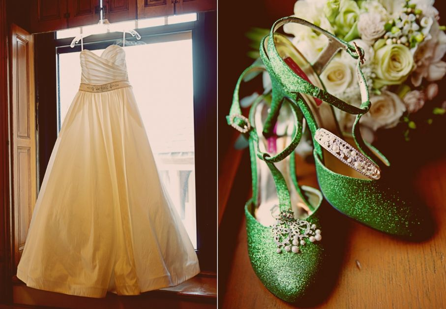 My Green Wedding Shoes And My Dress For My St Patrick S Day