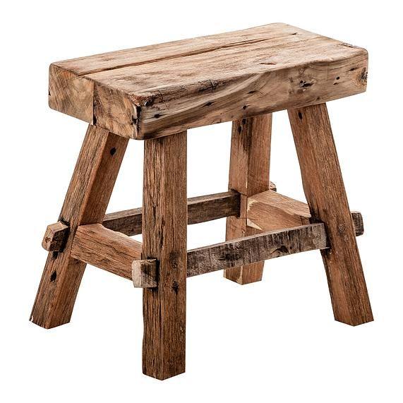 84 mesita taburete estilo n rdico de madera natural 100 for Taburete estilo nordico