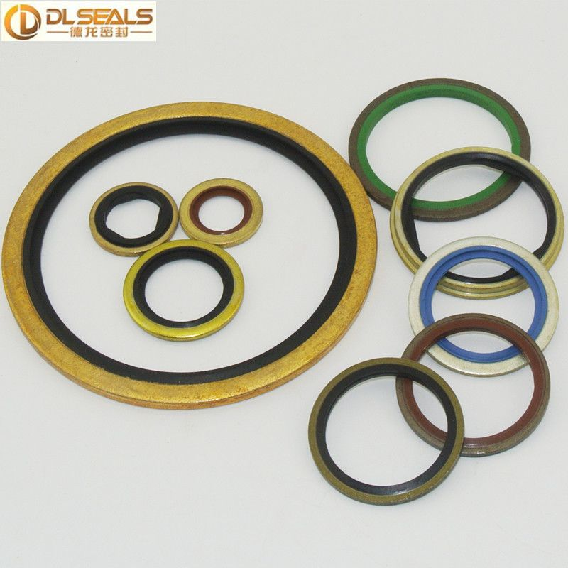 Stainless Steel Blue EPDM Rubber Gasket Dowty Washer BS/A
