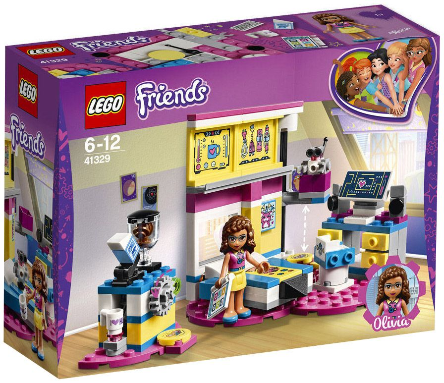 Lego 41329 Friends Labo D'olivia La Chambre Y76vmIfgyb